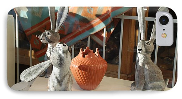 New Mexico Rabbits Phone Case by Rob Hans