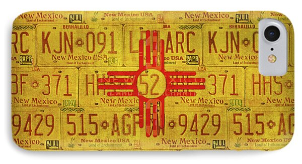 New Mexico State Flag Vintage License Plate Art Phone Case by Design Turnpike