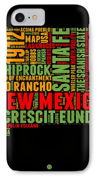 New Mexico Word Cloud Map 1 IPhone Case