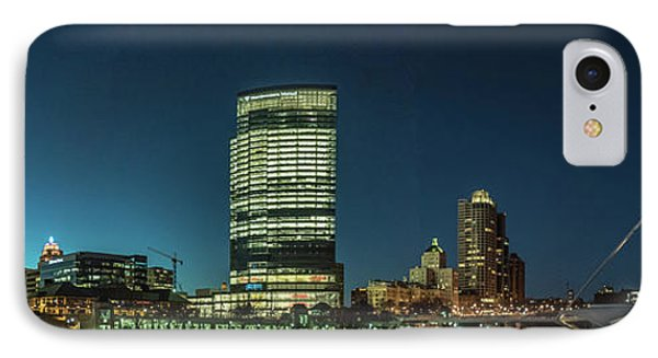 IPhone 7 Case featuring the photograph New Milwaukee Skyline by Randy Scherkenbach