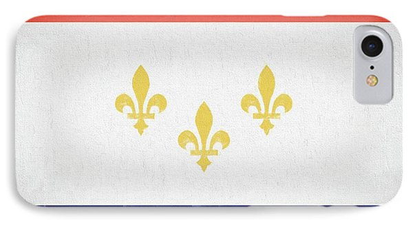 IPhone Case featuring the digital art New Orleans City Flag by JC Findley