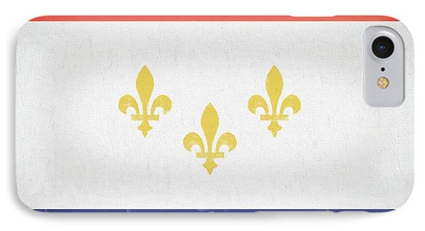 IPhone 7 Case featuring the digital art New Orleans City Flag by JC Findley