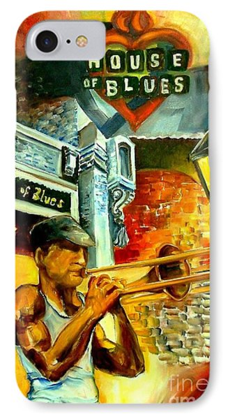 Trombone iPhone 7 Case - New Orleans' House Of Blues by Diane Millsap