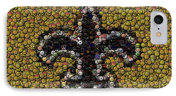 New Orleans Saints  Bottle Cap Mosaic Phone Case by Paul Van Scott