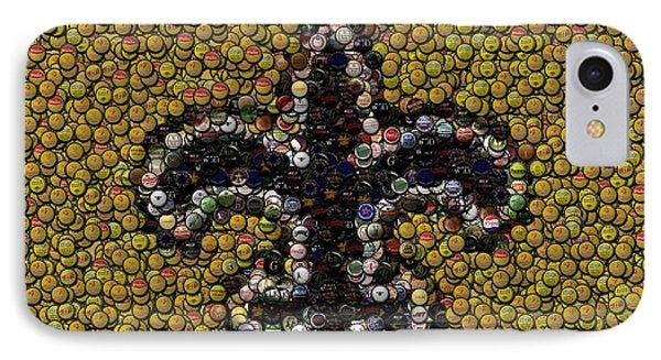 New Orleans Saints  Bottle Cap Mosaic IPhone Case