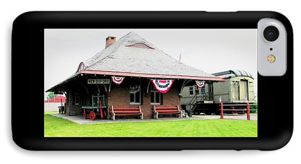 New Oxford Pennsylvania Train Station IPhone Case by Angela Davies
