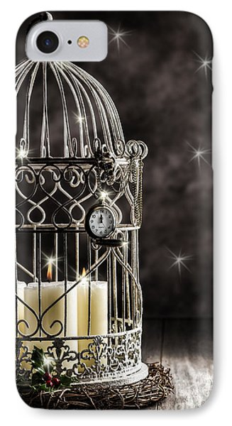 New Year Candles IPhone Case by Amanda Elwell