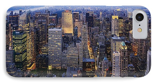 New York At Night IPhone Case by Kelley King