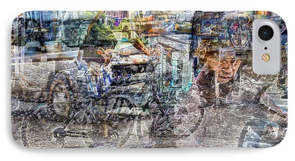 New York Bike Messengers IPhone Case by Dave Beckerman