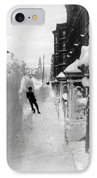 New York: Blizzard Of 1888 Phone Case by Granger