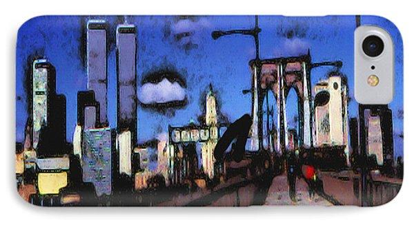 New York Blue - Modern Art IPhone Case by Art America Gallery Peter Potter