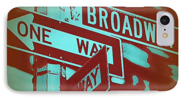 New York Broadway Sign Phone Case by Naxart Studio
