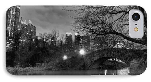 IPhone Case featuring the photograph New York - Central Park 006 Bw by Lance Vaughn