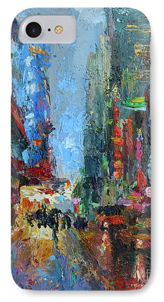 New York City 42nd Street Painting IPhone Case
