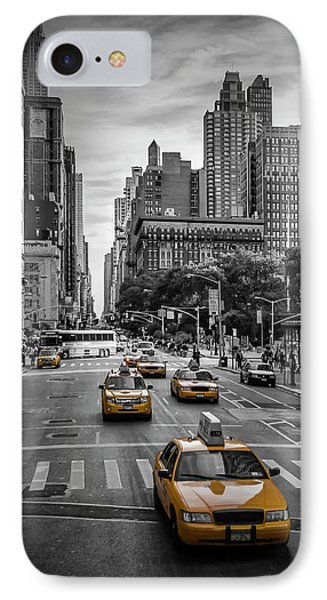 New York City 5th Avenue Traffic IPhone Case by Melanie Viola