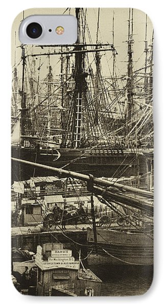 New York City Docks - 1800s IPhone Case by Paul W Faust -  Impressions of Light