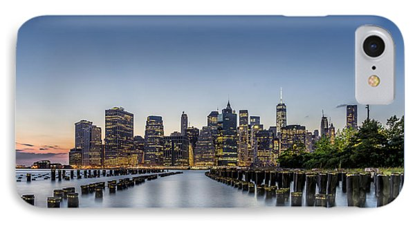 New York City Dusk IPhone Case by Rafael Quirindongo
