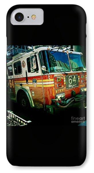 New York City Fire Engine IPhone Case by Miriam Danar