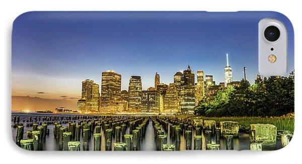 New York City From Brooklyn IPhone Case by Rafael Quirindongo