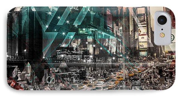 New York City Geometric Mix No. 4 IPhone Case by Melanie Viola