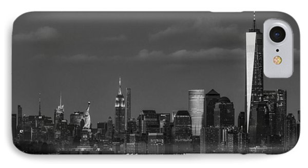 IPhone Case featuring the photograph New York City Icons Bw by Susan Candelario