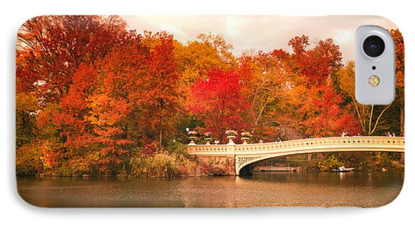 New York City In Autumn - Central Park IPhone Case by Vivienne Gucwa