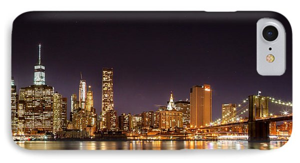 New York City Lights At Night IPhone Case by Az Jackson