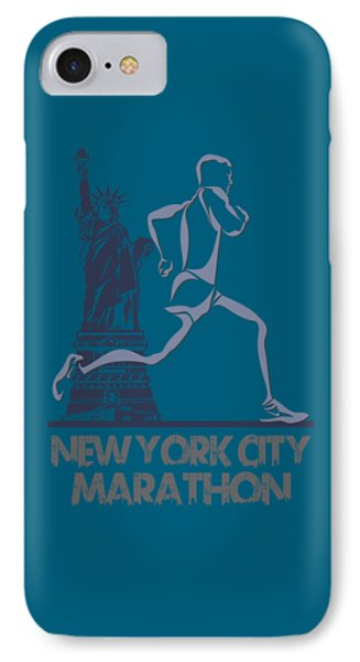 New York City Marathon3 IPhone Case by Joe Hamilton