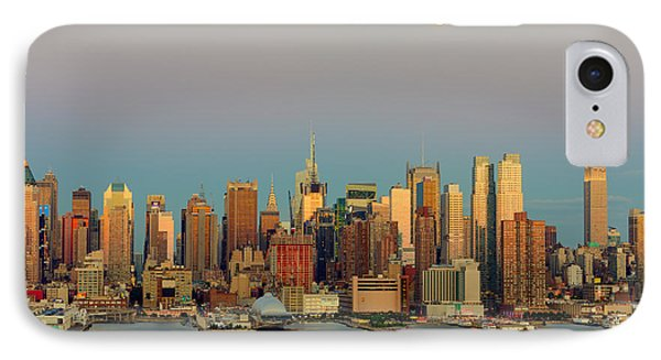 New York City Moonrise I Phone Case by Clarence Holmes