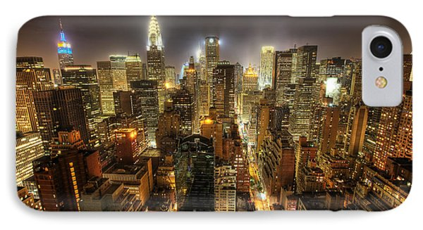New York City Night IPhone Case by Shawn Everhart