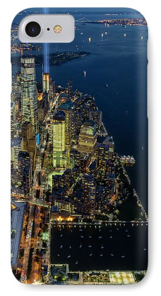 IPhone Case featuring the photograph New York City Remembers 911 by Susan Candelario