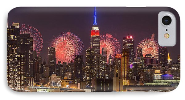 New York City Skyline And Fireworks I IPhone Case