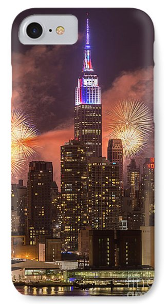 New York City Skyline And Fireworks II IPhone Case