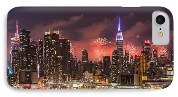 New York City Skyline And Fireworks IIi IPhone Case