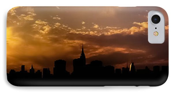 New York City Skyline At Sunset Panorama IPhone Case