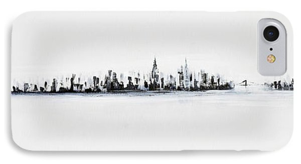 New York City Skyline Black And White IPhone Case