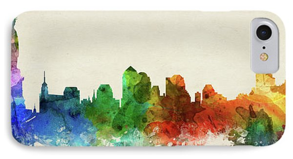 New York City Skyline Panorama Usnyny-pa03 IPhone Case