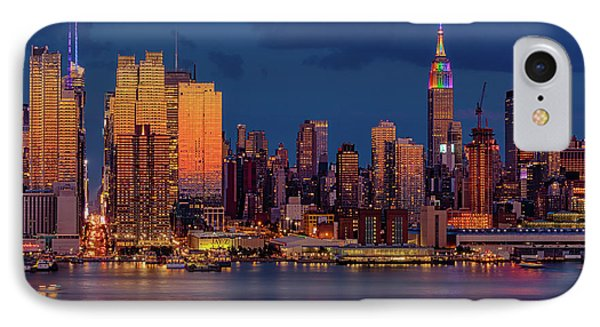 IPhone Case featuring the photograph New York City Skyline Pride by Susan Candelario
