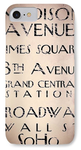 New York City Street Sign IPhone Case by Mindy Sommers