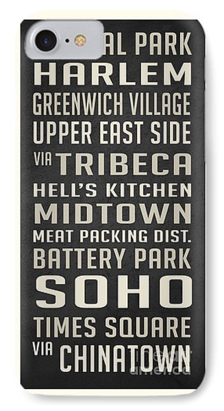 Harlem iPhone 7 Case - New York City Subway Stops Vintage by Edward Fielding