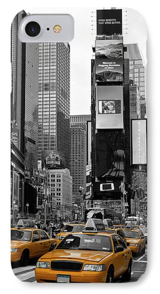 City Scenes iPhone 7 Case - New York City Times Square  by Melanie Viola
