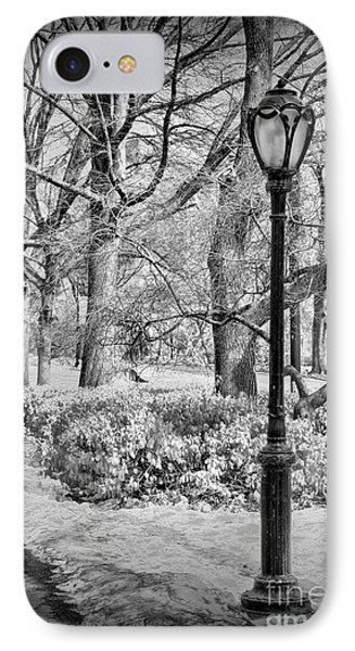 New York City - Winter - Central Park IPhone Case by Paul Ward