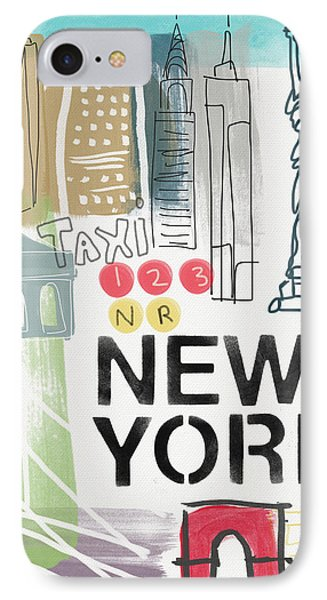 New York Cityscape- Art By Linda Woods IPhone Case