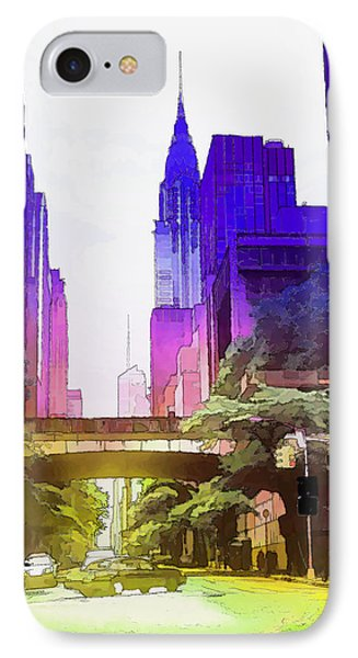 New York Colors IPhone Case by Marion Daly