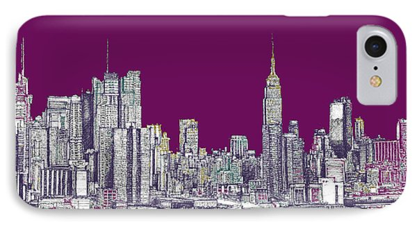 New York In Purple IPhone Case