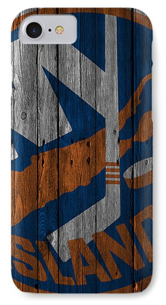New York Islanders Wood Fence IPhone Case by Joe Hamilton