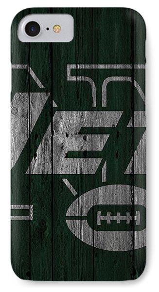 New York Jets Wood Fence IPhone 7 Case by Joe Hamilton