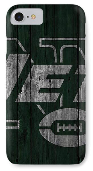 New York Jets Wood Fence IPhone Case by Joe Hamilton