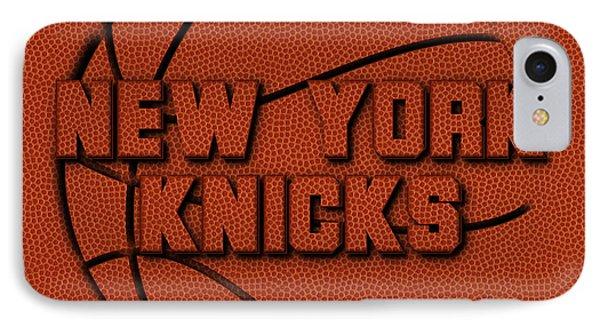 New York Knicks Leather Art IPhone Case by Joe Hamilton