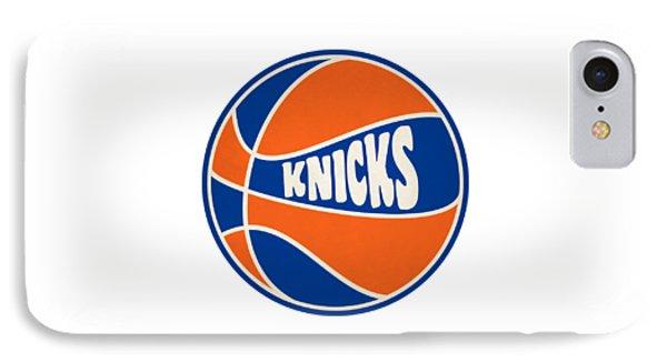 New York Knicks Retro Shirt IPhone Case by Joe Hamilton